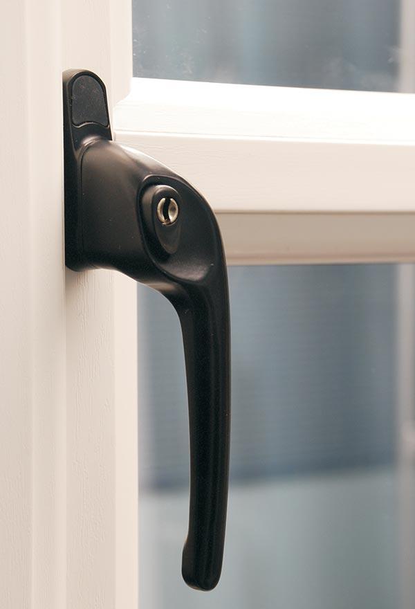 Black Push Button Window Handle