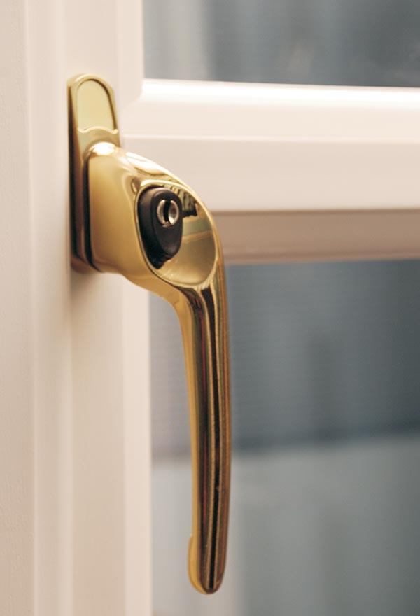 Gold Push Button Window Handle
